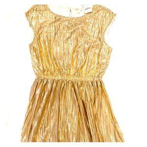 J. Crew Crewcuts Girls Gold Dress size 14